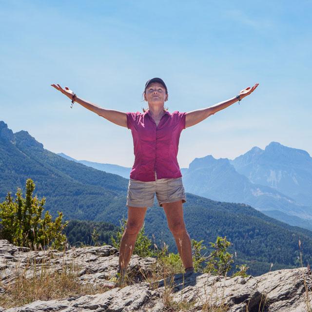 Photo d'illustration pour l'accompagnement individuel : Claudie Escalé à la montagne dans les Pyrénées